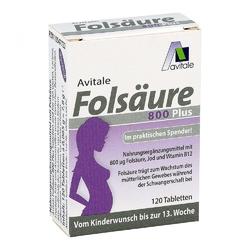 Kwas foliowy 800 plus b12+jod – tabletki