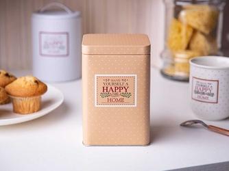 Puszka  pojemnik na produkty sypkie altom design happy home kwadratowa