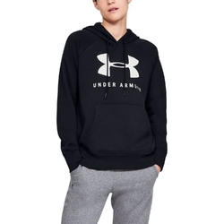 Bluza damska under armour rival fleece sportstyle graphic hoodie - czarny