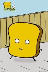 Pan tost - mr toast walking - plakat