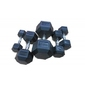 Hantla ogumowana hex ac-1721 55 kg - bauer fitness - 55 kg