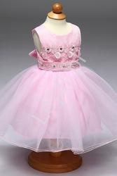 Różowa tiulowa sukienka z koronkową górą dla dziewczynek