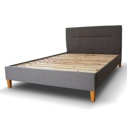 Łóżko tapicerowane ze stelażem carolin 140x200