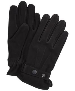 Czarne nubukowe rękawiczki 8,5