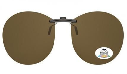 Nakładki brązowe pilotki polaryzacyjne na okulary korekcyjne montana c4b