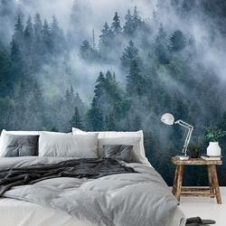 Tapeta na ścianę - foggy forest , rodzaj - tapeta flizelinowa