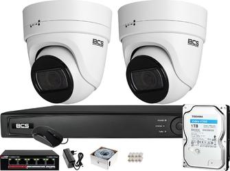 Zestaw monitoringu bcs view rejestrator ip 2x kamera 4 mpx bcs-v-ei436ir3