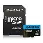 Adata microsd premier 32gb uhs1cl10a1+adapter