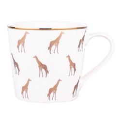 Kubek do kawy i herbaty porcelanowy altom design dekoracja żyrafa 350 ml biały