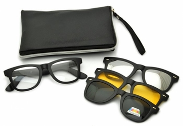 Oprawki okulary zerówki w zestawie z trzema nakładkami na magnes tr2206