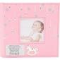 Album na zdjęcie konik chrzest roczek dedykacja - album różowy