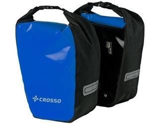 Sakwy rowerowe crosso dry small 30l - niebieskie