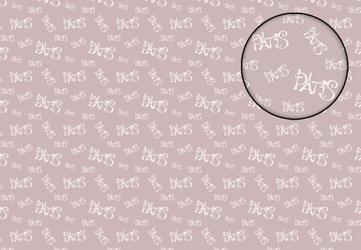 Paris na różowym tle - fototapeta