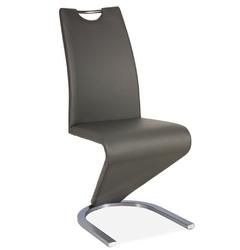 Krzesło tapicerowane do jadalni tilly szarestal