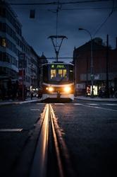 Praga, światło w ciemności - plakat premium wymiar do wyboru: 59,4x84,1 cm