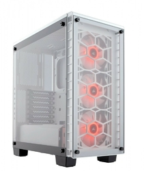 Corsair Crystal Series 460X RGB Compact ATX                     Mid-Tower, WHITE