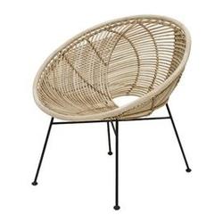 Hk living :: fotel rattanowy naturalny