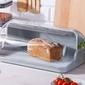 Chlebak  pojemnik na pieczywo z tworzywa sztucznego lamela jasny szary