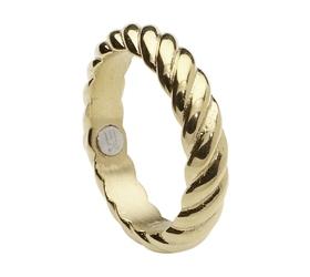 Pierścionek magnetyczny 2579-6 złoty pleciony