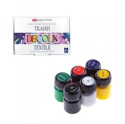 Zestaw farb do tkanin 6x20ml decola