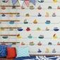 Tapeta dziecięca - boats rainbow , rodzaj - tapeta flizelinowa