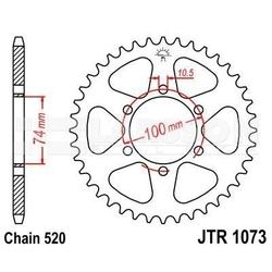 Zębatka tylna stalowa jt 1073-46, 46z, rozmiar 520 2301977 hyosung gv 250