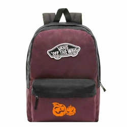 Plecak szkolny Vans Realm Prune Purple Black - VN0A3UI6TQR - Custom Halloween Pumpkins