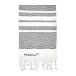 Ręcznik kuchenny stripe grey green gate