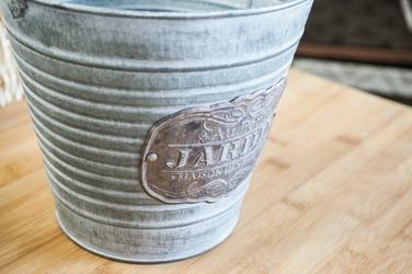 Metalowa osłonka na doniczkę petit jardin okrągła 16 cm