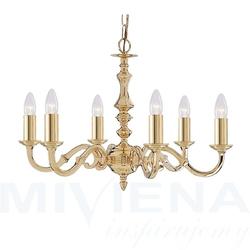 Seville lampa wisząca 6 złoty