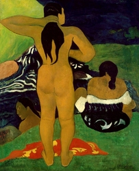 Tahitian women bathing, paul gauguin - plakat wymiar do wyboru: 60x80 cm