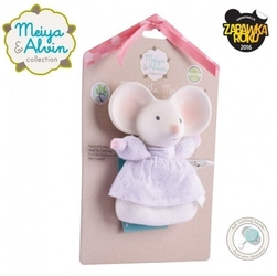 Meiya  alvin - meiya mouse soft rattle with organic teether head