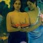 Two tahitian women, paul gauguin - plakat wymiar do wyboru: 59,4x84,1 cm