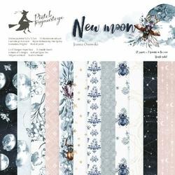 Papier do scrapbookingu New moon 15,3x15,3 cm - zestaw