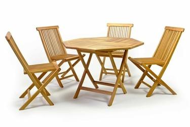 Zestaw mebli ogrodowych - cztery krzesła i stół 100 cm