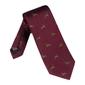 Elegancki bordowy krawat jedwabny laco w jelonki