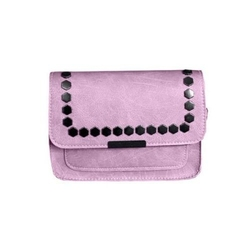 Mała skórzana torebka  dżety różowa
