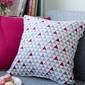 Poszewka dekoracyjna na poduszkę altom design, dekoracja trójkąty 40 x 40 cm