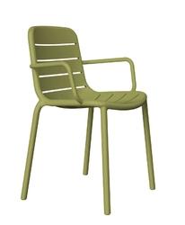 Krzesło gina z podłokietnikami - zielony
