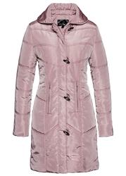 Krótki płaszcz pikowany bonprix różowobrązowy