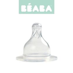 Zestaw smoczków do butelek szerokootworowych beaba - wolny przepływ 0m+