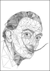 Geometryczny salvador dali - plakat wymiar do wyboru: 29,7x42 cm