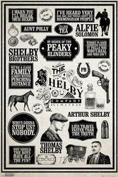 Peaky blinders infografika - plakat