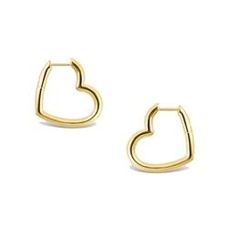 Staviori kolczyki serca. srebro 925.  pokryte żółtym złotem szerokość 18,5 mm. wysokość 21 mm