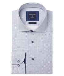 Biała koszula profuomo w ciekawy wzór slim fit 43