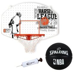 Zestaw tablica do koszykówki new port piłka spalding outdoor pompka