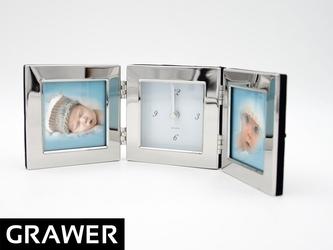 Zegar ramka na zdjęcia prezent na urodziny grawer