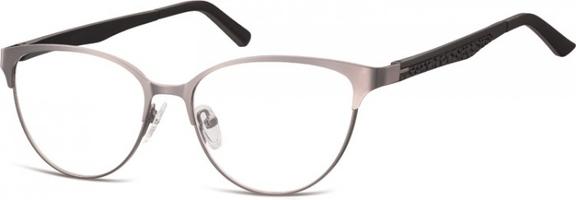 Oprawki okularowe kocie oczy damskie stalowe,giętki zausznik sunoptic 980b jasne grafitowe