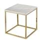 Rge :: stolik kawowy accent marmur kwadratowy biało-złoty szer. 50 cm