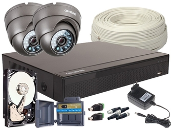 Zestaw 4w1, 2x kamera full hdir20, rejestrator 4ch, hdd 1tb - możliwość montażu - zadzwoń: 34 333 57 04 - 37 sklepów w całej polsce
